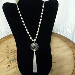 Jewelry - Women's Pearl/Initial T Necklace